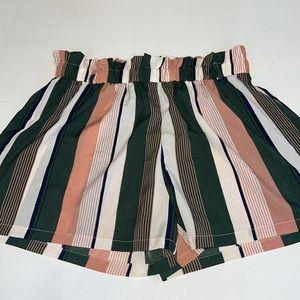 New SHEIN Curve Striped Shorts 2XL